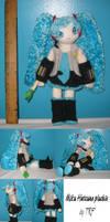 Miku Hatsune plushie by teenagerobotfan777