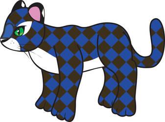 Checkered leopard vector by teenagerobotfan777