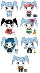 Cute robot designs by teenagerobotfan777