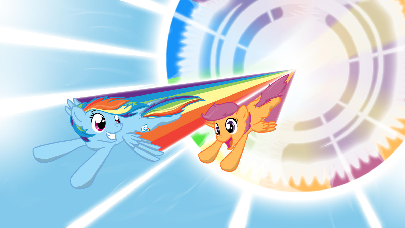 Rainbow Dash Sonic Rainboom Filly | www.pixshark.com ...