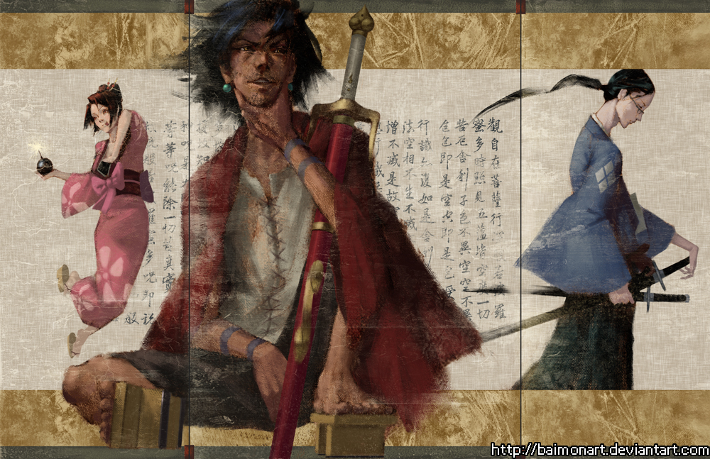 samurai champloo by baimonart