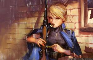 Riza Hawkeye (Revisited) by baimonart