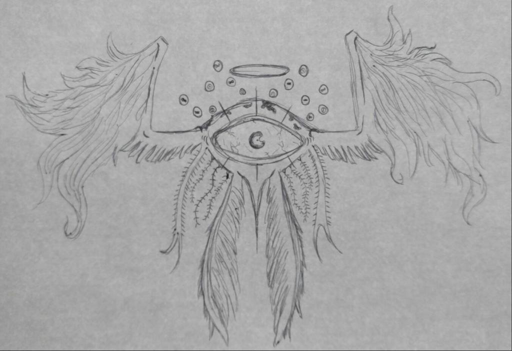 Inktober 10/7 Seraphim by DustyMuffinsss