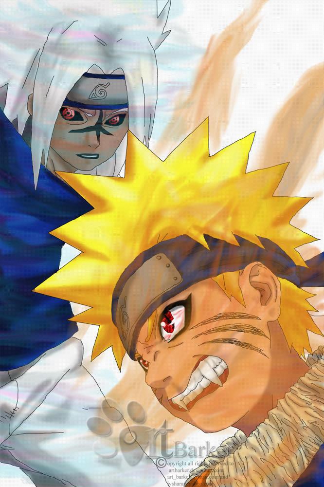 Naruto VS Sasuke by ArtBarker