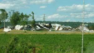 EF-2 Warehouse Damage, Pacific Junction, IA, 06-16