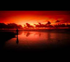 kuta's sunset by luct-angga