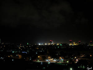 Night Colombo Skyline