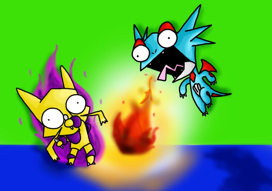 Salamence vs. Alakazam REDUX by Dor-Belle