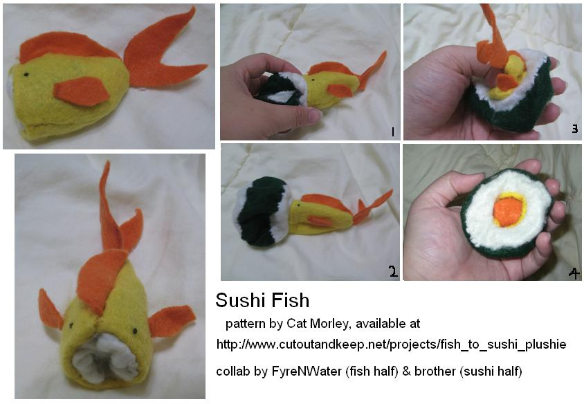 Sushi fish plush by fyrenwater on deviantart for Where to buy fish for sushi