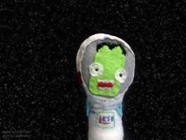 Kerbonaut finger puppet by fyrenwater