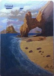 MtG custom land - Island 2 by fyrenwater