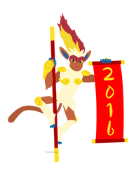 Lunar New Year 2016 - Infernape by fyrenwater