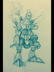 Steampunk robot by Aroundkp
