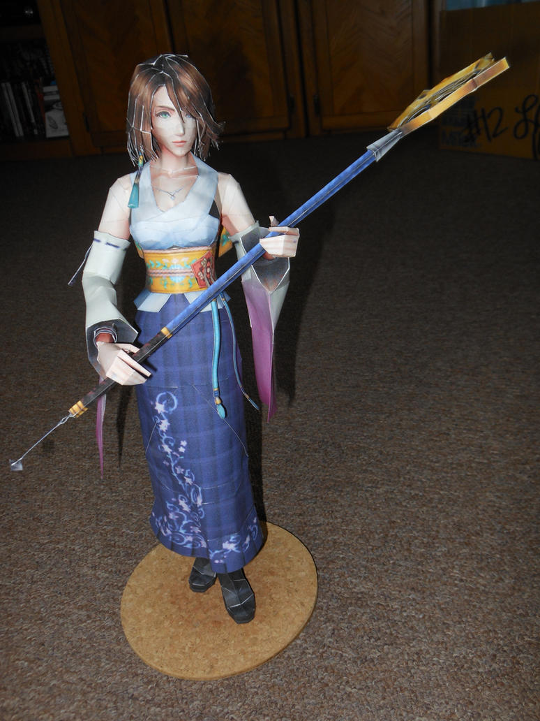 Yuna Papercraft (Final Fantasy X) by x-VivaerethAlonia-x