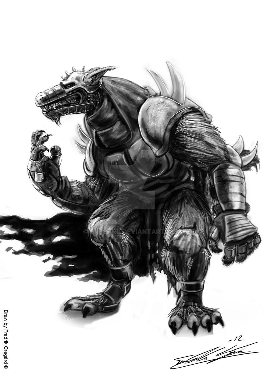 Werewolf warrior by Oregard on DeviantArt Werewolf Warrior Art