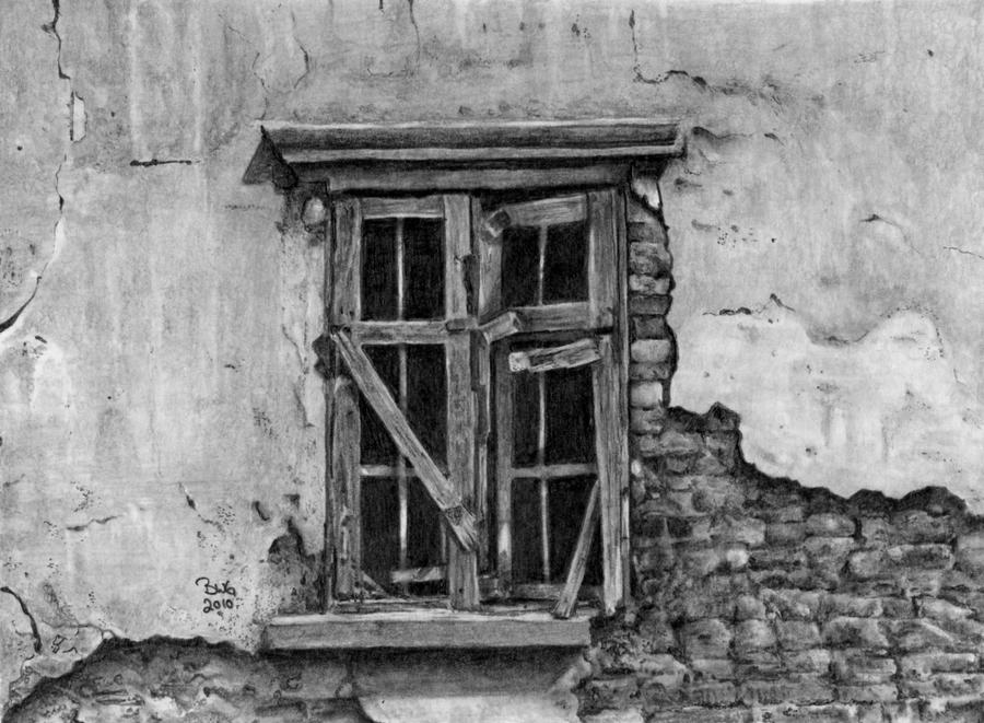 Old Window By GrayWolfcg