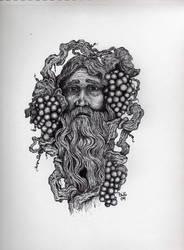 vinyard green man by GrayWolfcg