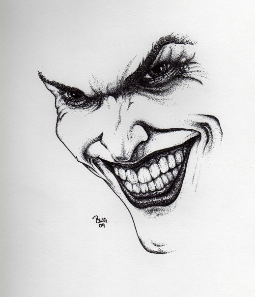 The Joker Face Drawing...