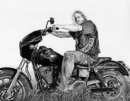 'Sons of Anarchy' drawing by GrayWolfcg