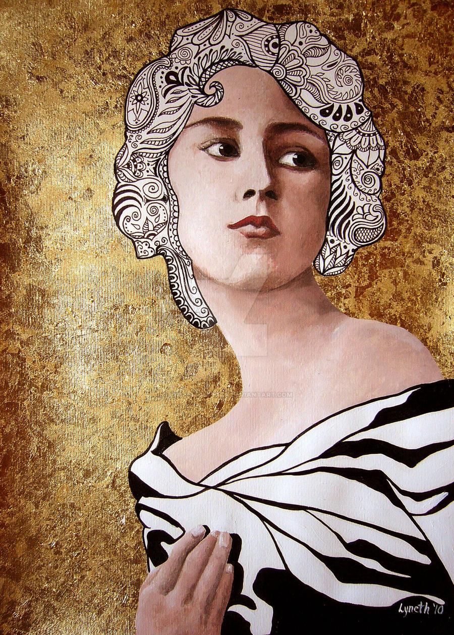 art nouveau portrait by lyneth-morgan on DeviantArt