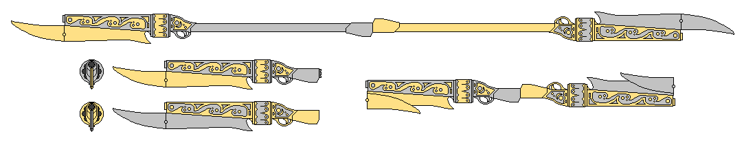 Sterling Silver and Glittering Gold~RWBY OC Weapon