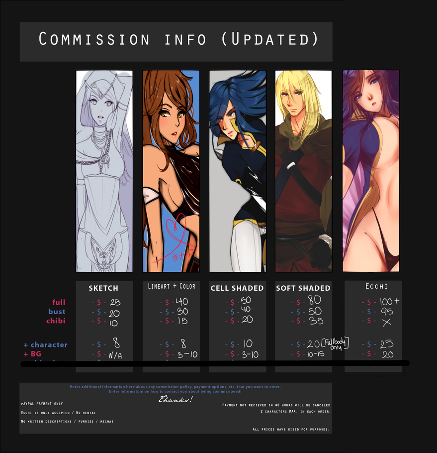 CommissIon prices UPDATED NEW / CATEGORY ADDED by Sylvx