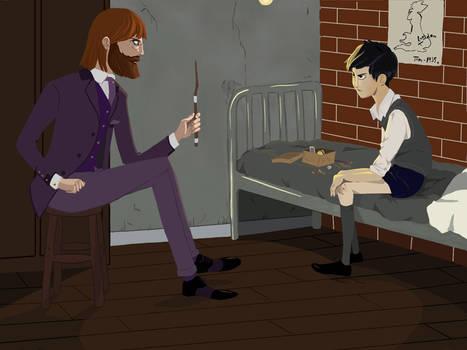 Dumbledore meets Tom Riddle
