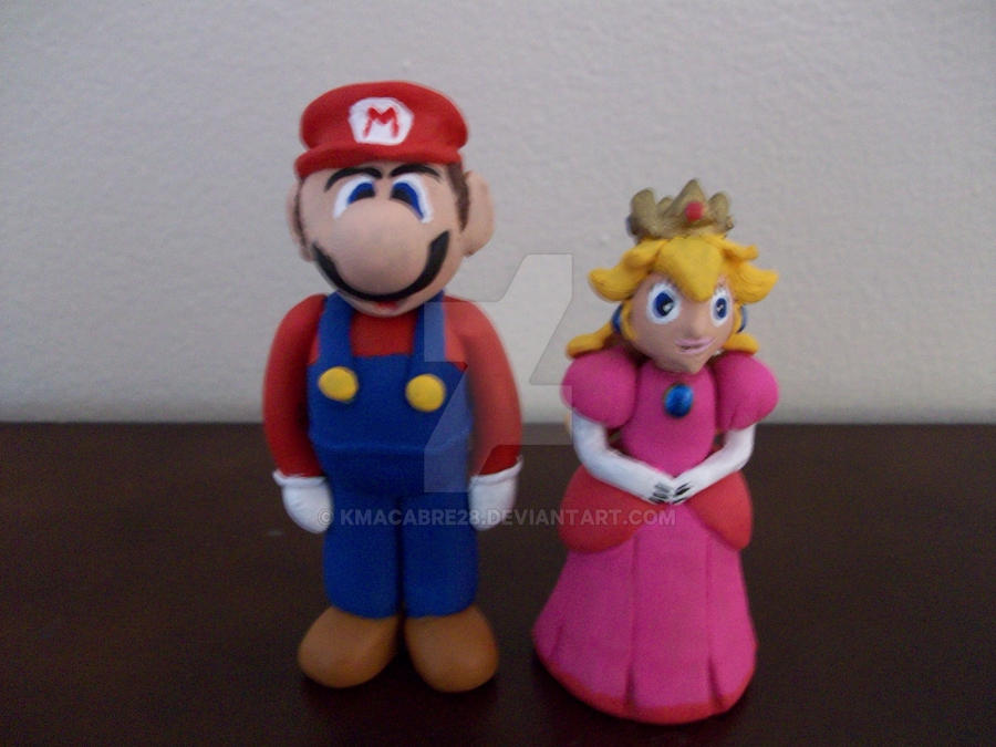 Mario and Peach Wedding Cake Topper by kmacabre28 on DeviantArt