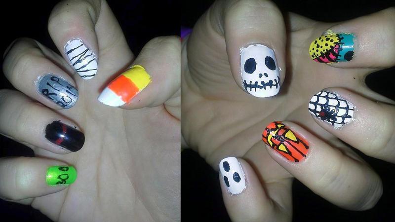 Halloween Nails by loveless-yaoi-fan