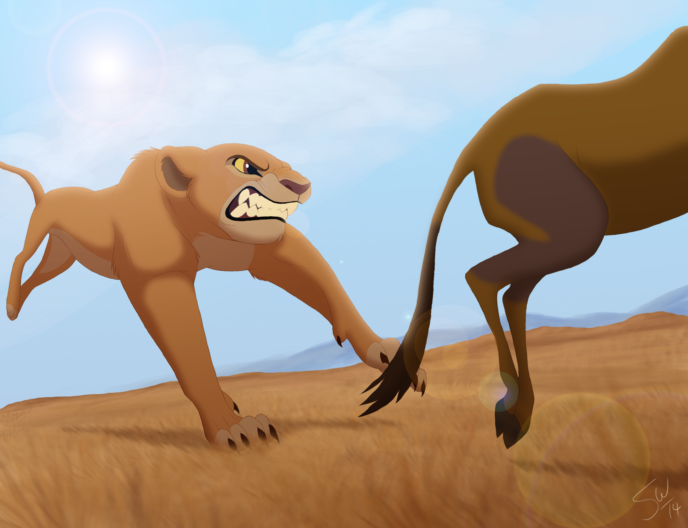 El Rey león: ojos cristalinos [Fan ficción] - Página 5 Kiara_the_huntress_by_tc_96-d4tfsm3