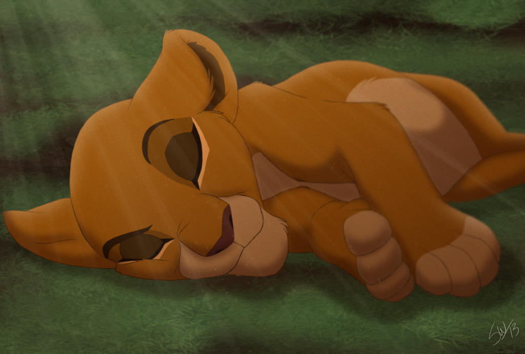 El rey leon 4:Theere Stars Asha_snooze_by_thecartooner1996-d63wp33