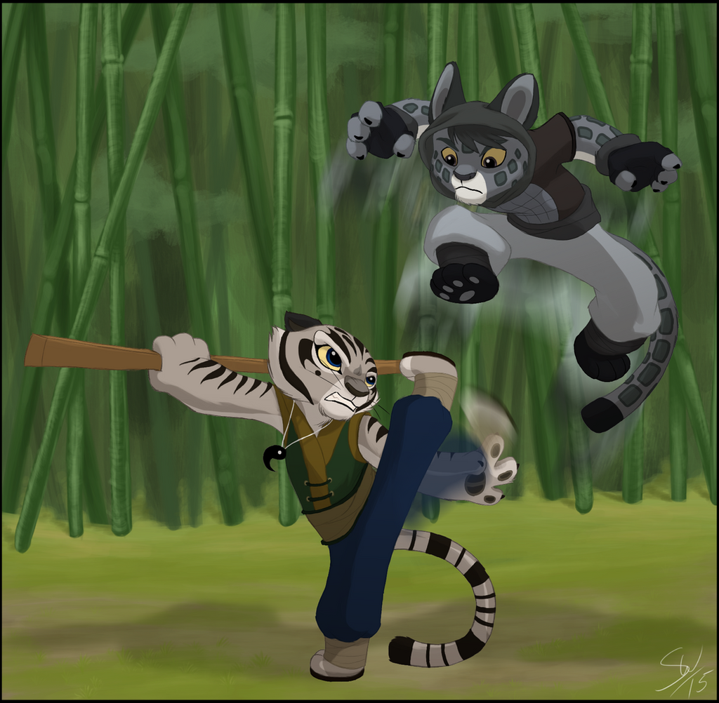 Kung fu panda peng and lian