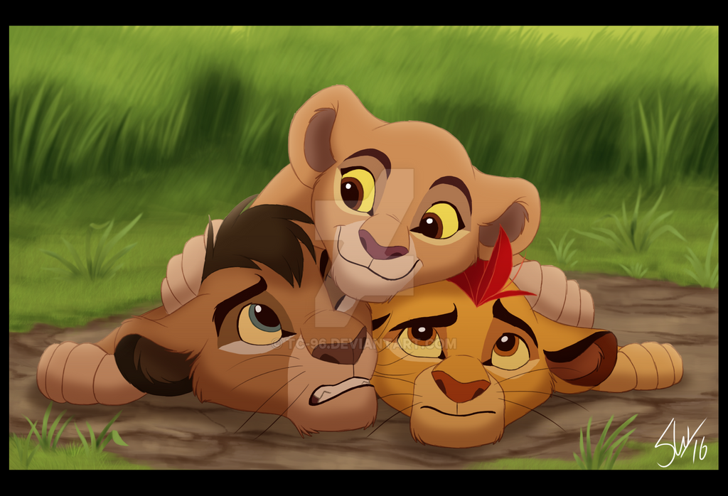 how to draw kiara from lion king
