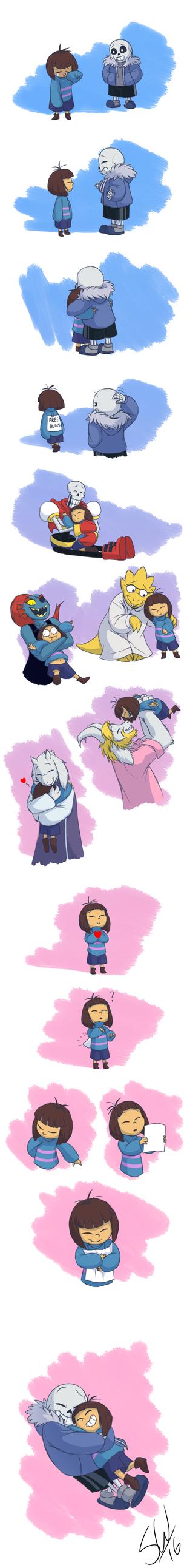 Undertale - The Legendary Hug Master by TC-96