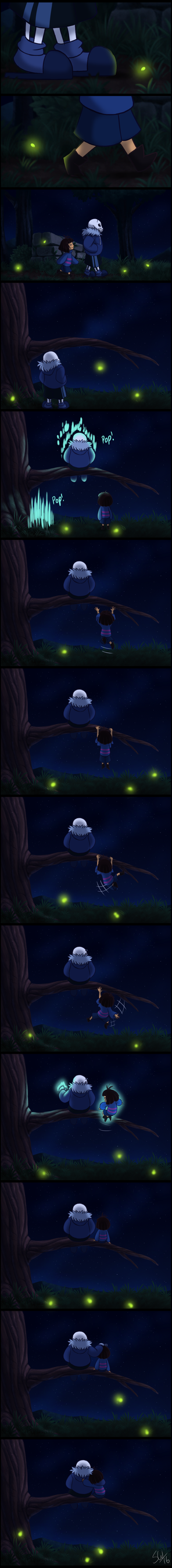 Undertale - Stargazing with Dunkle Sans by TC-96