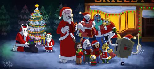 Undertale - Christmas Caroling by TC-96