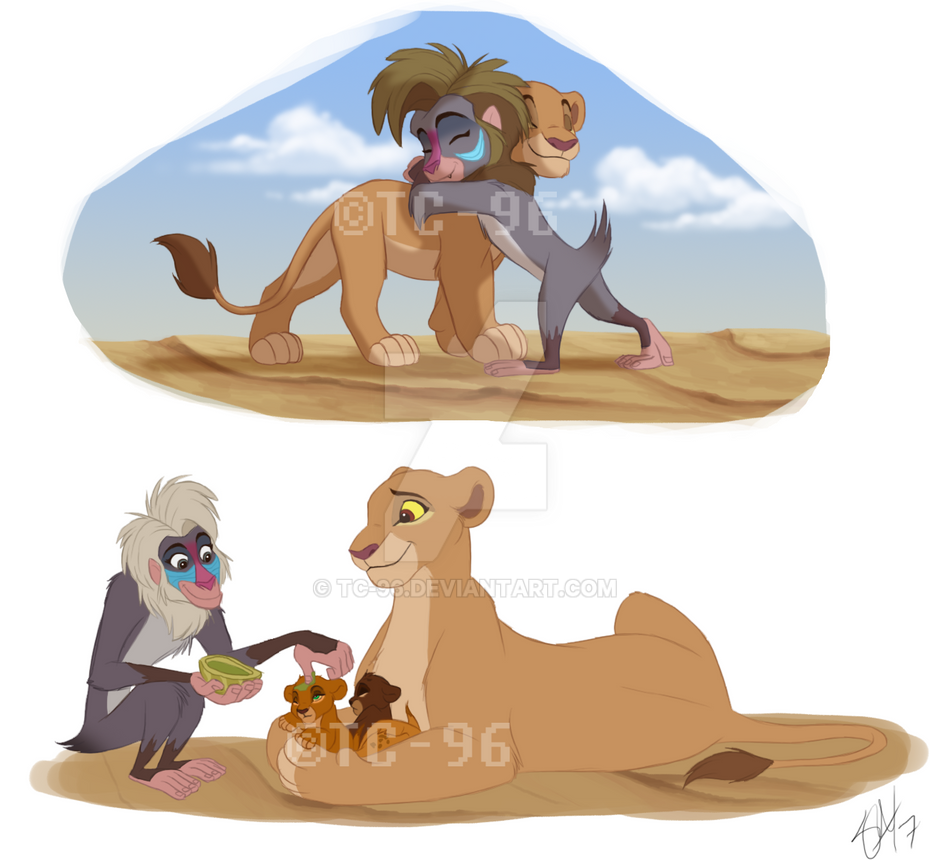 the lion king kiara and makini by tc 96 on deviantart