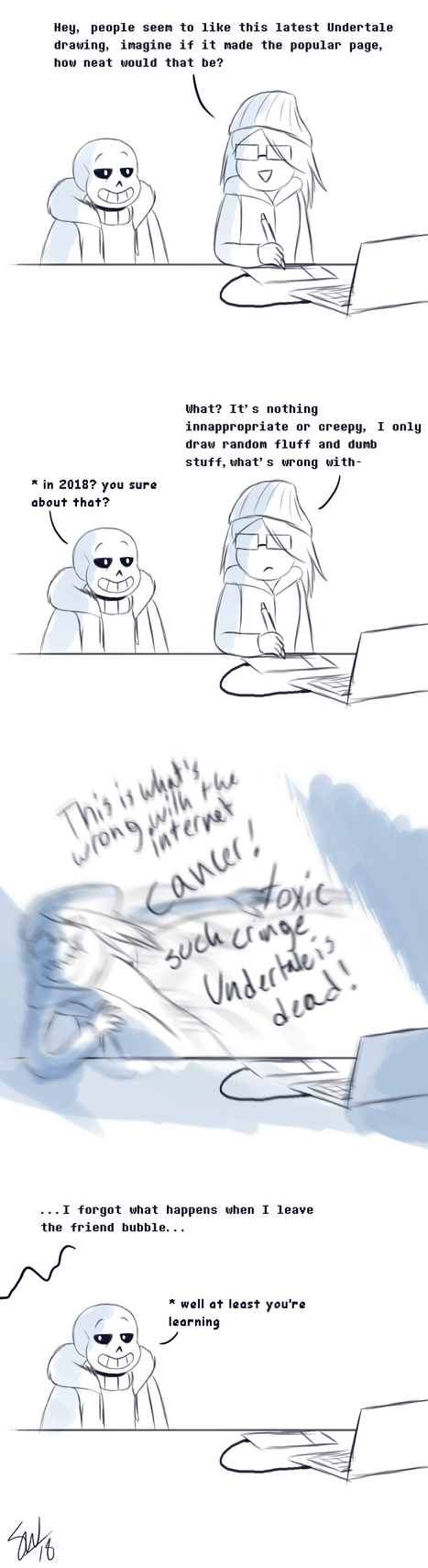 Current life of an Undertale Artist by TC-96