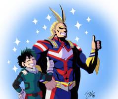 Boku no Hero Academia - smol and tol mights by TC-96