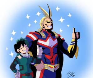 Boku no Hero Academia - smol and tol mights
