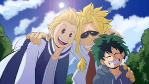 Boku no Hero Academia - Birthday selfie by TC-96