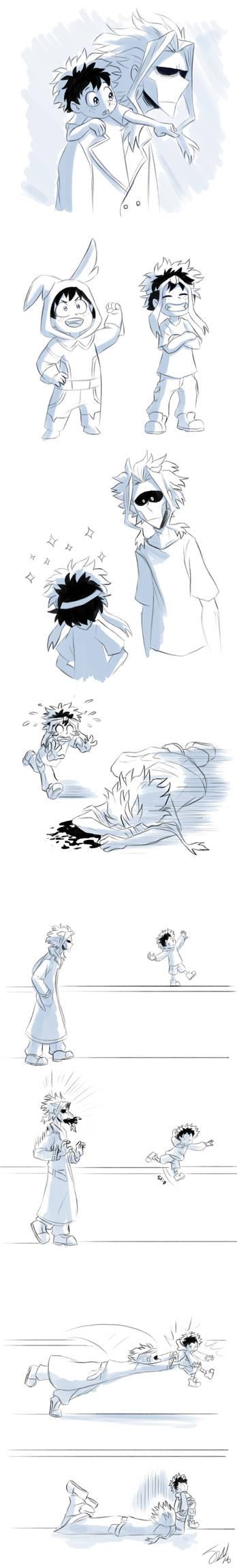 Boku no Hero Academia - collage of dad might