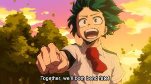 Boku No Hero Academia - Bend Fate (recolour) by TC-96