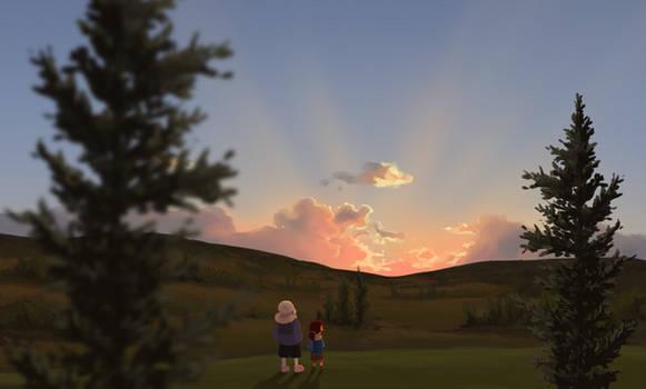 Undertale - sunset on the surface