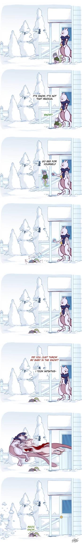 Huey's First Snow