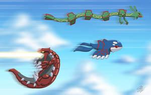 Groudon learned fly!