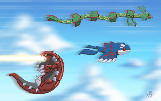 Groudon learned fly!