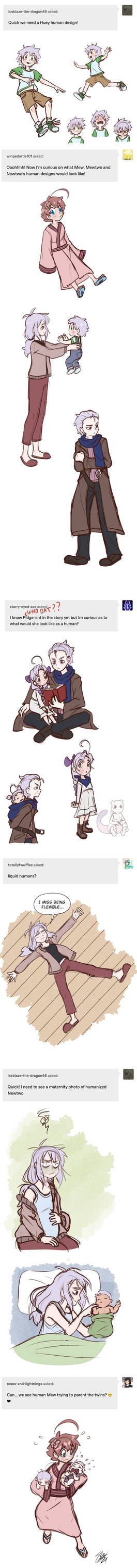 Human Twos And Mews