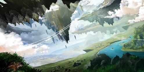 Fantasy-Landscape by InkTheory