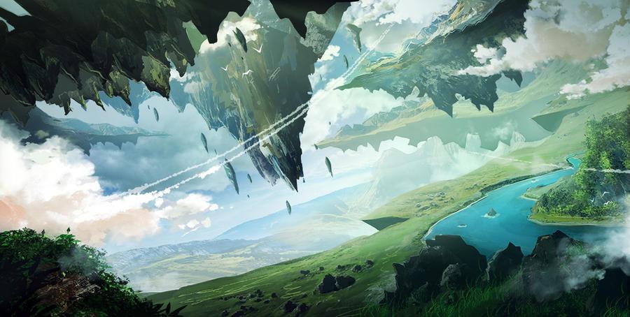 Floating Island by InkTheory